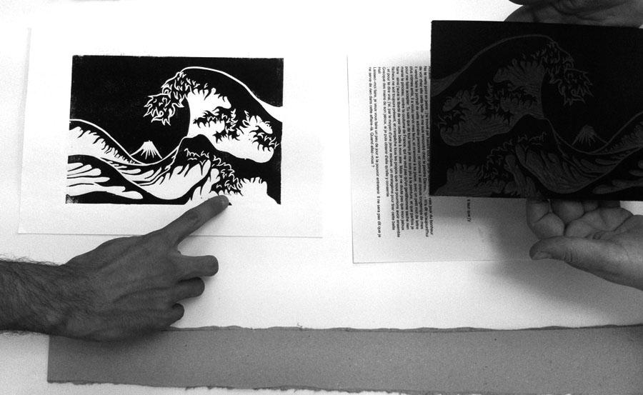 atelier gravure – expérimentation